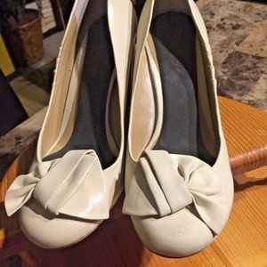 SOPHIE MAX Off White Leather Shoes Size 6 ODELIA